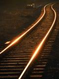 用栏杆围铁路 免版税图库摄影
