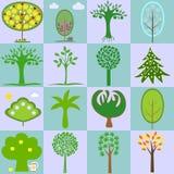 用树的不同的类型的象 库存照片
