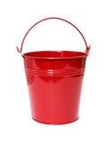 用桶提红色 免版税库存图片