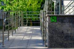 用残疾的室外通入装备 免版税库存照片