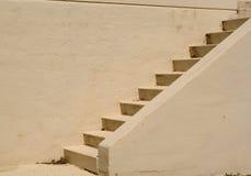 用水泥涂台阶 免版税库存图片