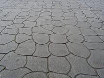 用水泥涂的路面 免版税库存照片