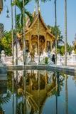用泰国传统艺术装饰的Budhhist教会 库存照片