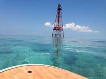 用浆划上礁石 免版税库存图片