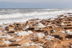 砂岩海滩 免版税库存照片