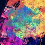 抽象混合画法背景或纹理 图库摄影