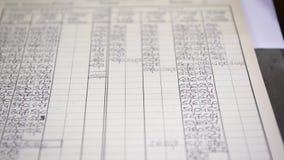 用用于制造业的不同的价值的一张数字图,选择聚焦 股票视频