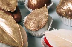 用白色巧克力盖的草莓装饰用可食是 免版税库存图片