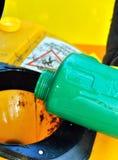 用的菜油的汇集在意大利 免版税库存照片