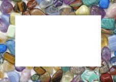 医治用的水晶宝石被填装的边界 图库摄影