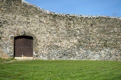 用石头做的墙壁 库存照片
