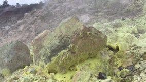用硫处理银行, Ha在夏威夷火山国家公园的` akulamanu大岛的,夏威夷 股票录像