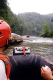 用筏子运送水白色 图库摄影