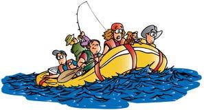 用筏子运送水 免版税库存照片