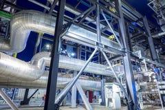 用管道输送与锅炉的绝缘材料 免版税图库摄影