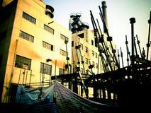 用管道输送北京中国798艺术区的工厂 免版税图库摄影
