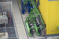 用管道输送的和泵装置 免版税库存照片