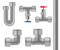 用管道输送被隔绝的象 在白色背景网站页和流动app隔绝的产业金属管子例证 库存例证