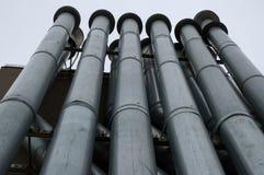 用管道输送高出气孔 库存照片