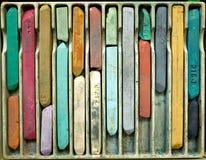 用粉笔写柔和的淡色彩 免版税库存图片