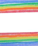 用粉笔写色的被绘的彩虹 图库摄影