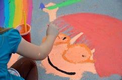 用粉笔写节日帕萨迪纳 免版税库存照片