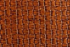 用红赭色涂棕色皮革纹理 库存图片
