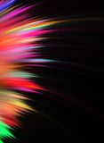用羽毛装饰分数维彩虹 向量例证