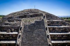 用羽毛装饰的蛇的寺庙,特奥蒂瓦坎,墨西哥 库存照片