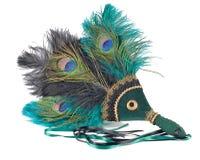 用羽毛装饰的beta风扇 免版税库存照片