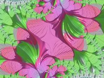 用花装饰的抽象设计 图库摄影