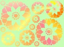 用花装饰的背景 免版税图库摄影