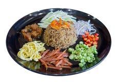 用虾酱晒干的米 免版税库存照片