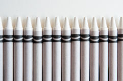 用蜡笔画白色 库存照片