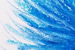 用蜡笔画蓝色框架 免版税图库摄影
