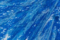 用蜡笔画蓝色框架 库存图片