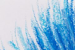用蜡笔画蓝色框架 库存照片