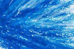 用蜡笔画蓝色框架 图库摄影