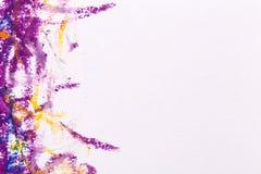 用蜡笔画蓝色紫色框架 库存图片