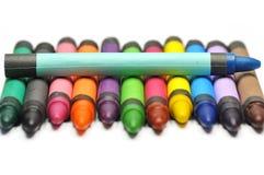 用蜡笔画铅笔 免版税库存照片