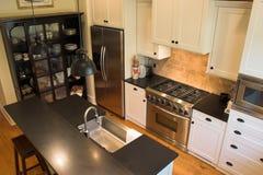 用装备的厨房 免版税库存照片