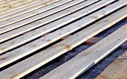 用车床加工屋顶系统 免版税图库摄影