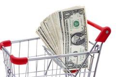 用车运送充分的货币购物 库存图片