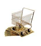 用车运送货币购物 免版税库存照片