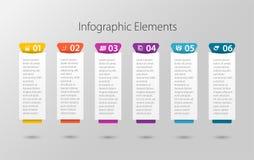 用途的多个目的Infographic模板 1个到6个选择 免版税库存照片