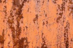用铁锈和腐蚀报道的金属表面 免版税库存照片