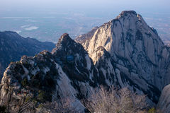 用陕西汉语,华山山的著名旅游胜地 库存图片