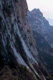 用陕西汉语,华山山的著名旅游胜地 免版税库存图片