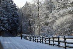 用雪包括的范围 库存照片