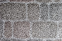 用雪薄层盖的铺路石  库存图片